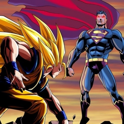 Goku e Vegeta versus todos os heróis da Marvel e DC Comics