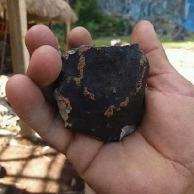 Meteorito de Cuba visto do espaço