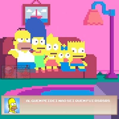 Simpsons ilustrado em técnicas de pixels