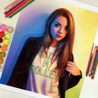Desenhos realistas feitos com lápis de cor