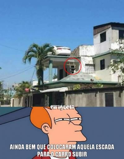 Como esse carro subiu ali?