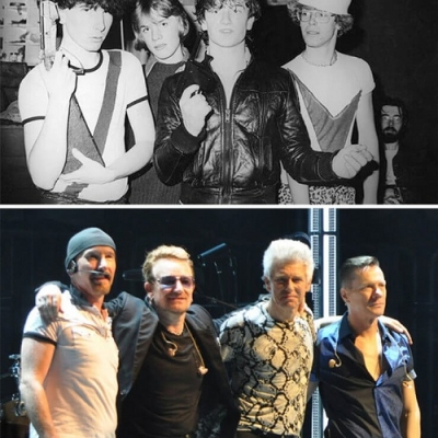 O antes e o depois de algumas bandas mundialmente conhecidas