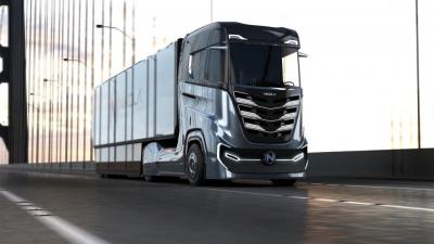 Grandes camiões da Nikola Motor movidos a hidrogénio