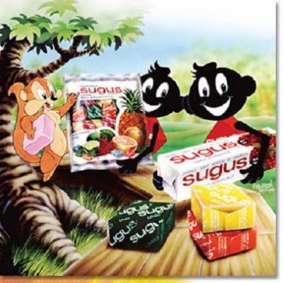 Sugus  -  foram comercializados no Brasil entre os anos 70 e 80.
