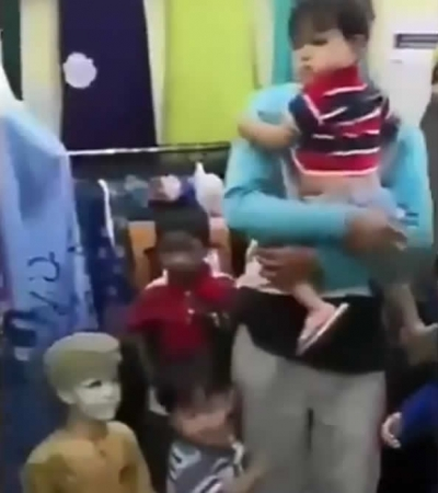 Quando você confunde seu filho com um manequim