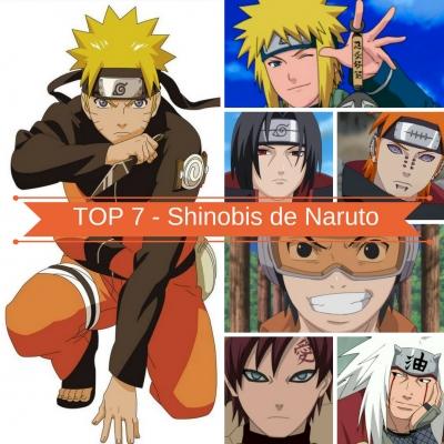 TOP 7 - Shinobis de Naruto