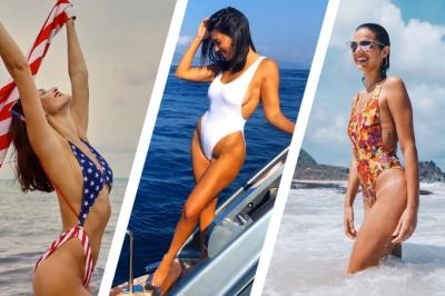 Maiô asa-delta é tendência para o próximo verão e famosas já estão usando