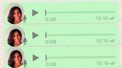 Os Áudios do whatsapp