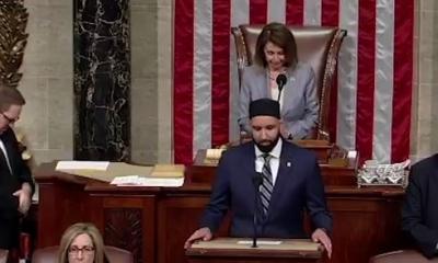Líder religioso islâmico antissionista faz reza de abertura nos EUA
