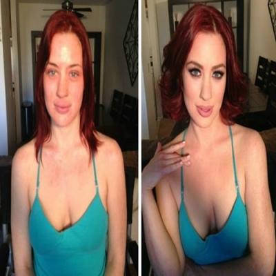Mulheres que se transformaram totalmente após serem maquiadas