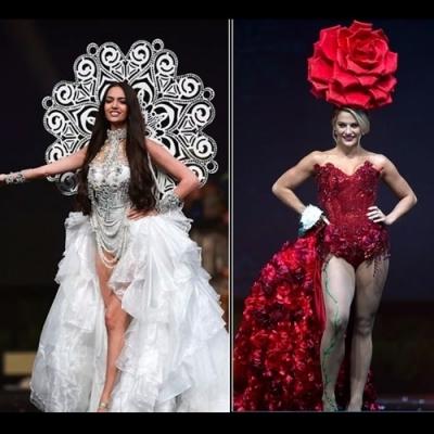 Miss Universo Concorrentes mostram seus vestidos nacionais