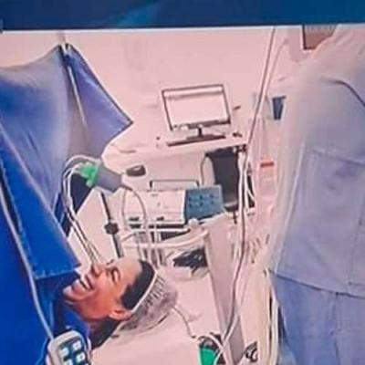 Pai desmaia durante o nascimento do filho!