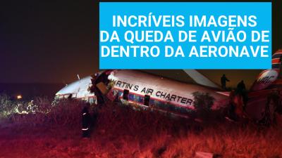 Veja INCRÍVEIS IMAGENS da queda de avião gravadas de dentro da aeronave