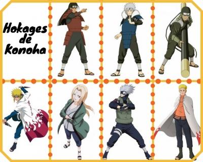 Hokages de Konoha - Anime Naruto