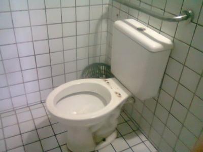 Sanitário sem condições de uso