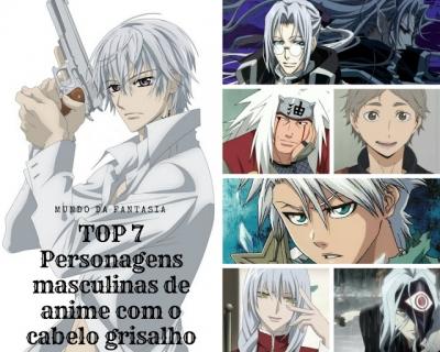 TOP 7 - Personagens de anime com o cabelo grisalho