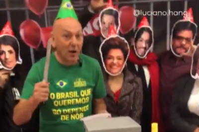 Luciano Hang faz festa para comemorar 1 ano da prisão de Lula