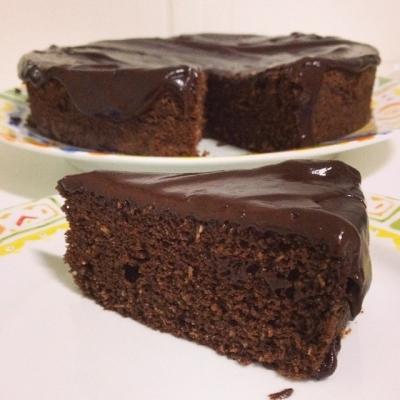 Bolo de chocolate sem glútem (delicioso)