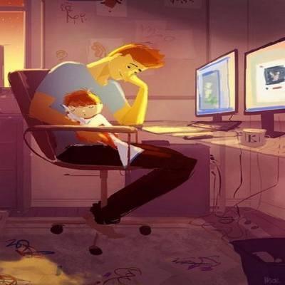 Ilustrações emocionantes que mostram a relação entre pais e filhos