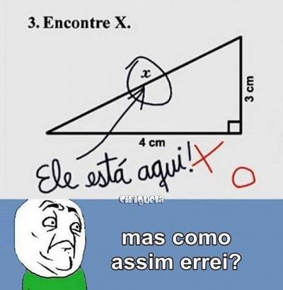 Encontre o X da questão