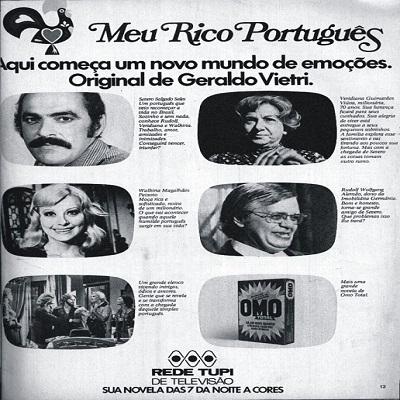 Meu Rico Português - sucesso que desbancou a novela concorrente no horário na
