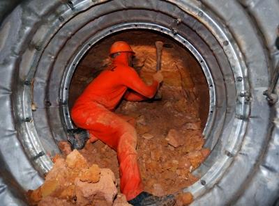 Construção de um túnel