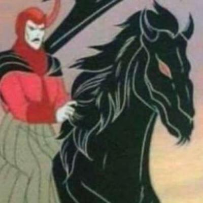 Mas o cavalo...a