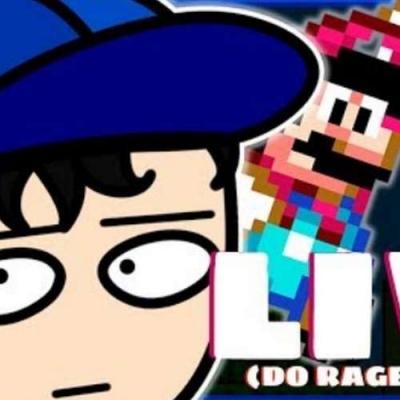 Live bate-papo dando RAGE EM SUPER MARIO