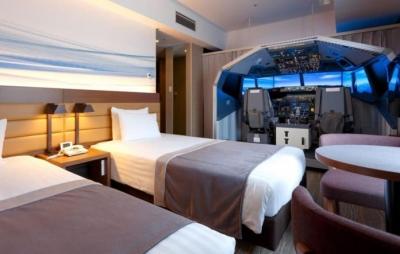 Hotel japonês constrói quarto com simulador de vôo
