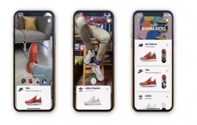 Realidade aumentada para ajudar a comprar calçados online
