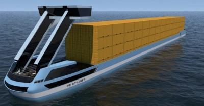 Empresa Holandesa constroi 2 barcaças para contentores totalmente eletricas