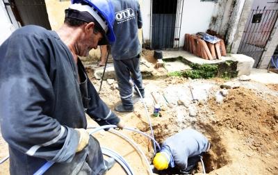 Obras de melhorias de abastecimento de água