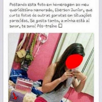 Essa garota postou uma foto em homenagem ao seu namorado vacilão