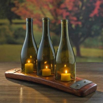 Como fazer uma linda luminária com garrafas e velas