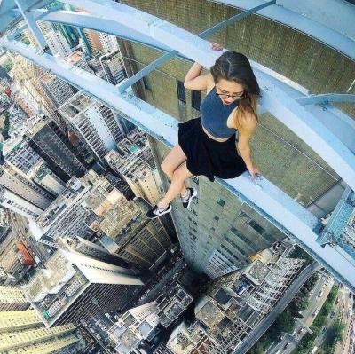 Selfies tiradas nas alturas que vão deixar você arrepiado
