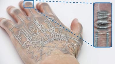 Tatuagem eletrônica usa as rugas da pele para aumentar sua eficiência