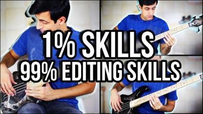 Homem prova que qualquer um pode ser um baixista, basta saber editar