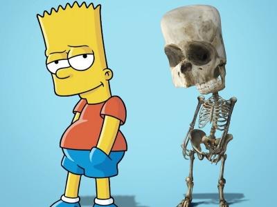 Artista mostra como seriam os esqueletos de personagens famosos de desenhos anim