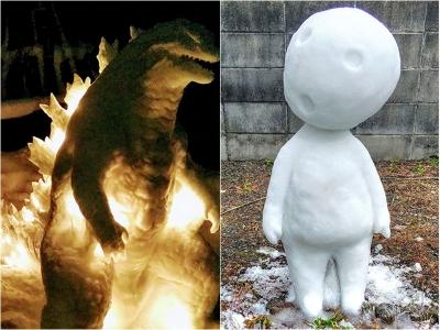 Este artista japonês faz esculturas com neve