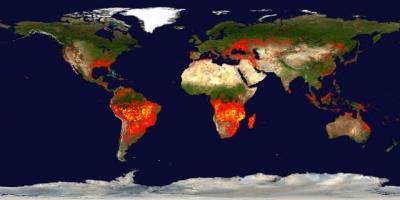 Mapa mostra todos os incêndios de 2019, e são muitos