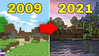 Veja a evolução de Minecraft de 2009 até hoje