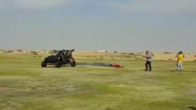 Carro voador falha...no primeiro teste