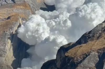 Vídeo mostra uma avalanche bem de pertinho