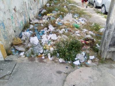 Lixo na cidade de Olinda