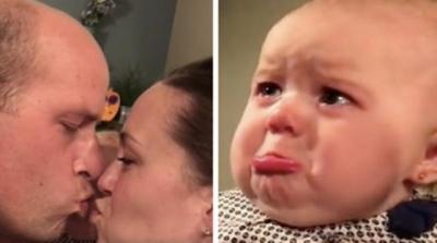 A bebê que não gostava de beijos