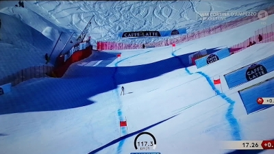 Esquiador se recupera após acidente a 120 Km/h