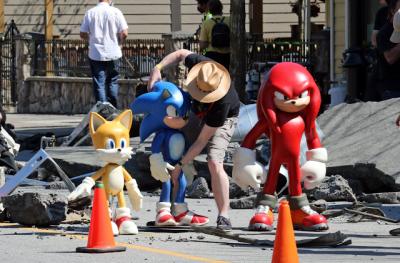 Foto do set de Sonic mostra visual de Tails e Knuckles