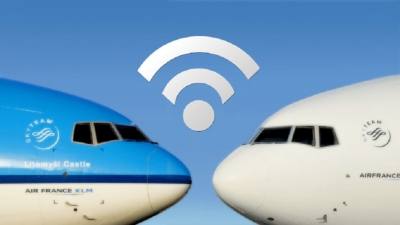 Aviões da AirFrance e KLM terão internet de alta velocidade