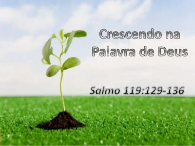 O crescimento para a salvação