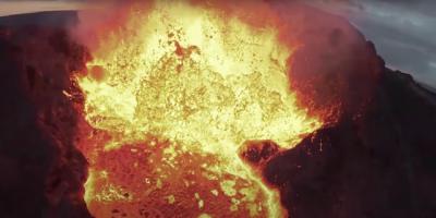 Drone de Youtuber cai dentro de vulcão e filma tudo!